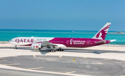 Qatar Airways unveils first bespoke FIFA World Cup Qatar 2022 aircraft