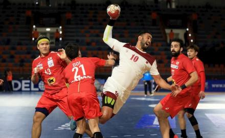 Qatar beat Japan in their second match of IHF Men's Handball World Championships