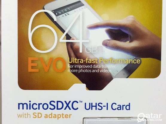 Samsung 64GB EVO Class 10 Micro SDXC up to 48MB/s with Adapter