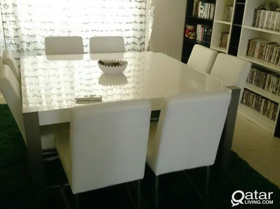 Dining Table set (complete with side cabinet)