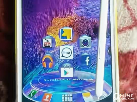 Samsung galaxy note 4 white. totaly new. no problem all ok. call me if you want to buy it