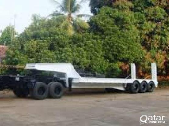 Low bed trailer available for Rent