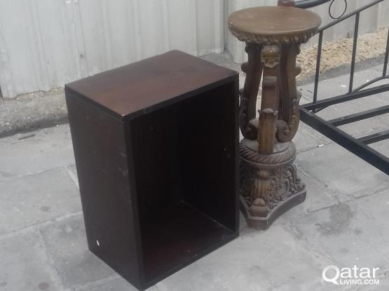 Double cot, anitque stand,shoe cabinet only 150QR