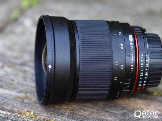 Rokinon 24mm F/1.4 Aspherical Wide Angle Lens