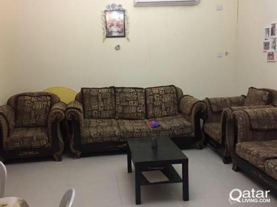 Sofa Set 7 Seater Urgent Sale:Leaving Qatar