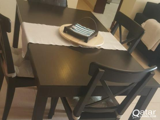 Ikea Dining Table Chairs Chairs Covers Qatar Living
