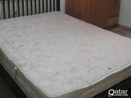 Double Coat Bed with Medicated Mattress & 1 side table