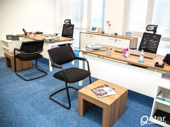Fully Furnished Office - 21 sqm - It can accommodate up to 8 persons - at Markaz