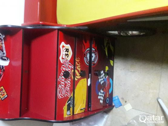 KIDS CAR BED & CUPBOARD FOR SALE