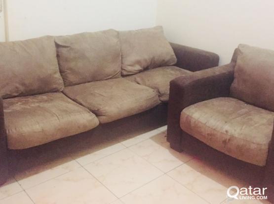 sofa neat condition Qar 200 cal or whtsp 66476825