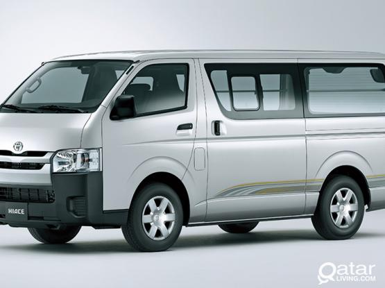 toyota hiace and innova for rent