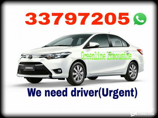 we're looking for a driver. urgent need.
