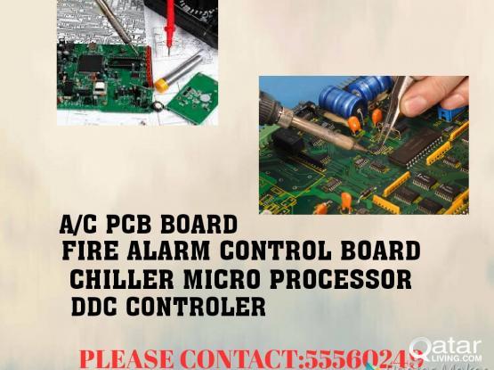 Electronics items PCB board.fire alarm control board& A/C maintenance