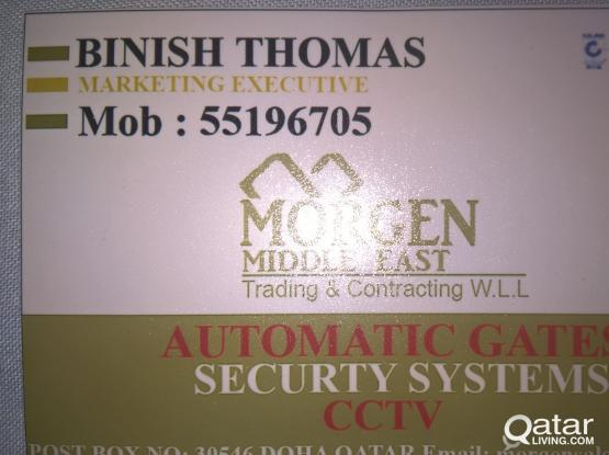 CCTV, AUTOMATIC GATE, SECURITY SYSTEMS INSTALLATION