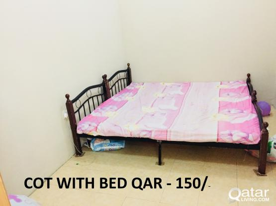 2 No's COT & 2 No's BED FOR SALE