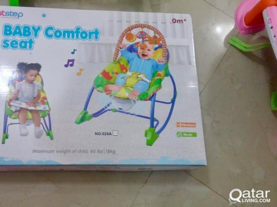 Baby musical cradle plus seat