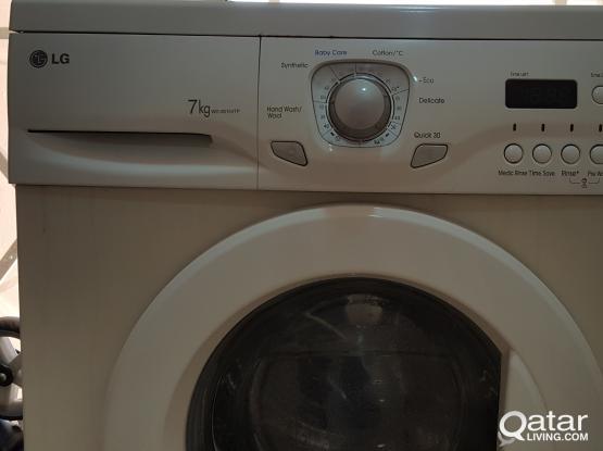LG washing machine 7KG for free