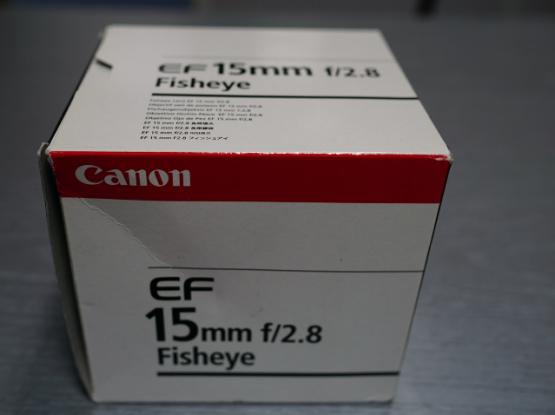 Canon EF 15mm (diagonal fisheye) f2.8 lens