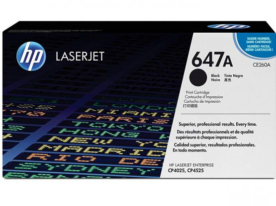 HP 647A (CE260A) Black Original Toner Cartridge  (Spare)