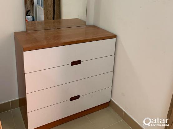Wardrobe + Dresser for sale