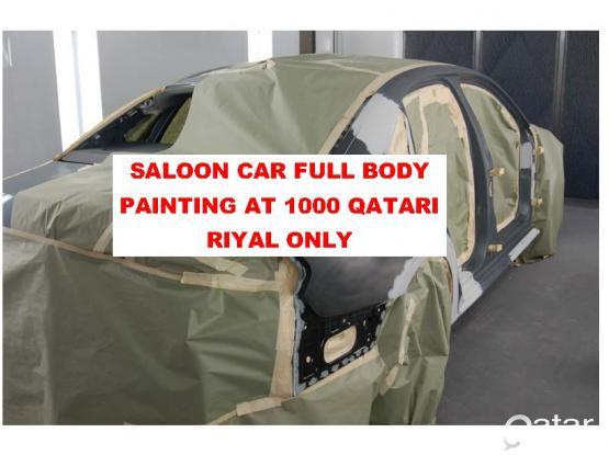 SALOON CAR FULL BODY PROFESSIONAL PAINTING JUST FOR 1000/- QATARI RIYAL ONLY. SHANKAR GARAGE in AL WUKAIR