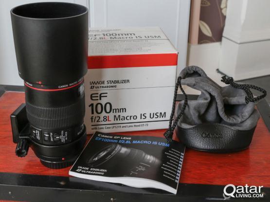 Canon EF 100mm f2.8L lens
