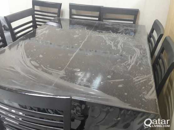 Dining Table (Extendable) 8 Chairs for Sale.