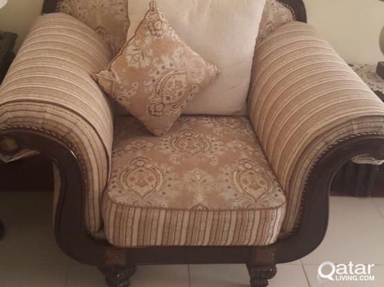 Sofa Set + Big Middle Table + 2 Side Tables