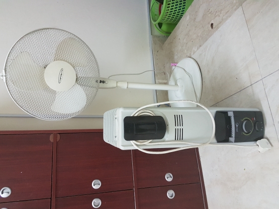 heater and electric fan