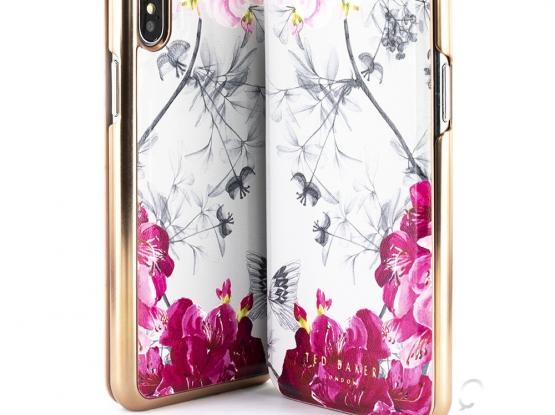 TED BAKER MIRROR FOLIO CASE FOR IPHONE XS MAX - BABYLON NICKEL