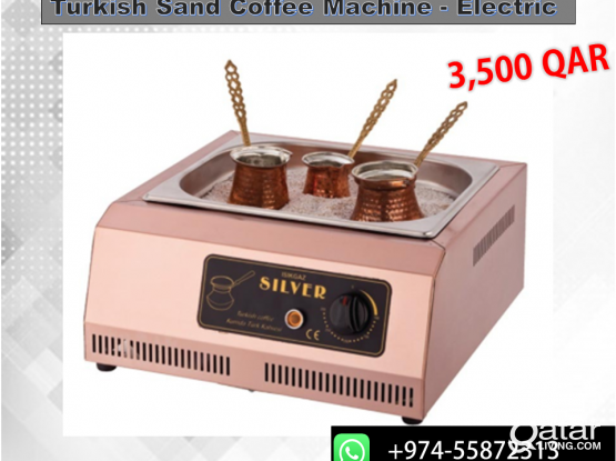 Turkish Sand Coffee Machine - Silver Electric - Free Delivery