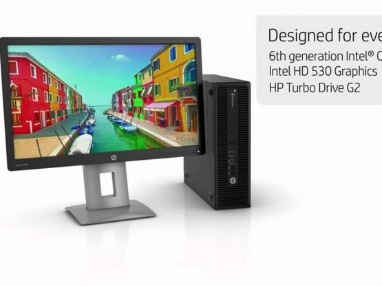 "Hp Elitedesk i7-6700 CPU 3.40GHZ-16GB RAM-500GB HDD - Hp 23""IPS Monitor(33176355)"