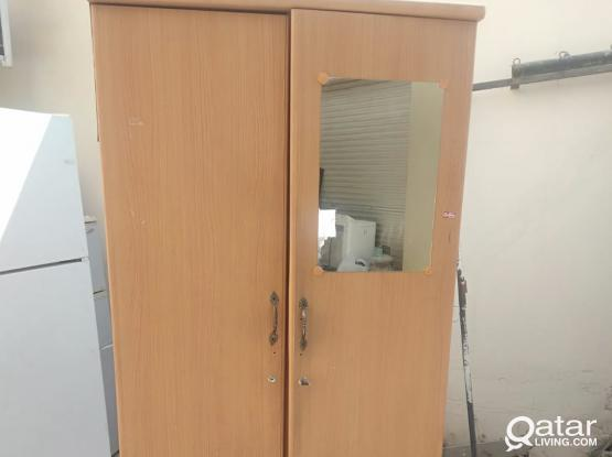 Moving sale of fridge and cupboard