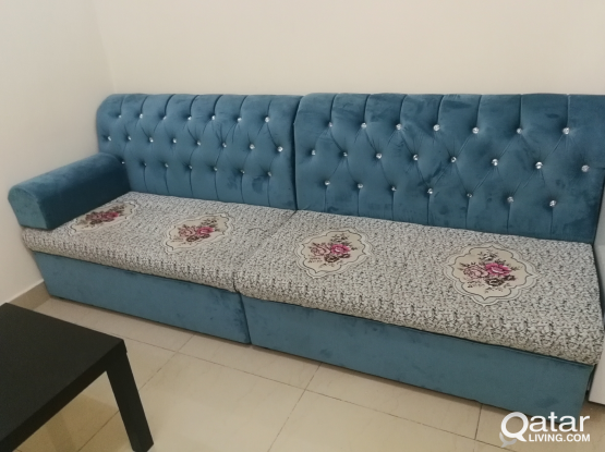 One month used sofa set only Qr-450/-