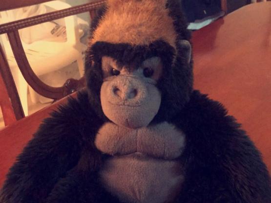 King Kong Fluffy Toy -لعبة كينغ كونغ للاطفال
