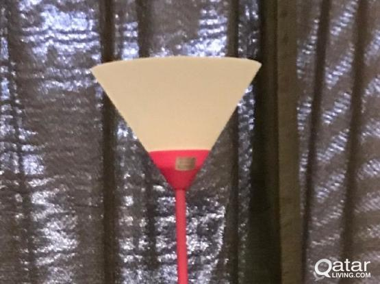 Floor Lamp, pink color , condition is perfect as new