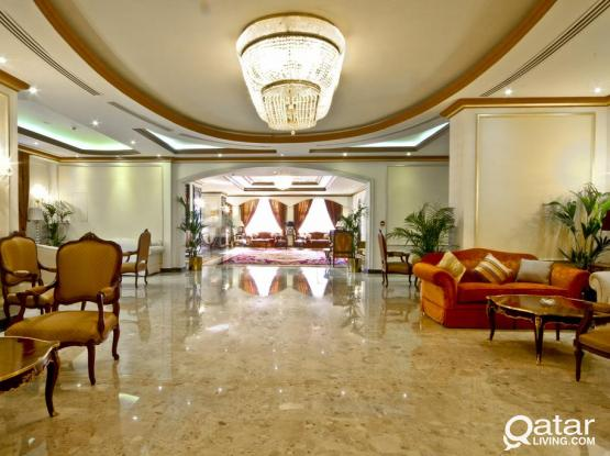 Furnished 3 Bed 5 Star Hotel Long Or Short Stay (Including Utilities & Qatar Cool)