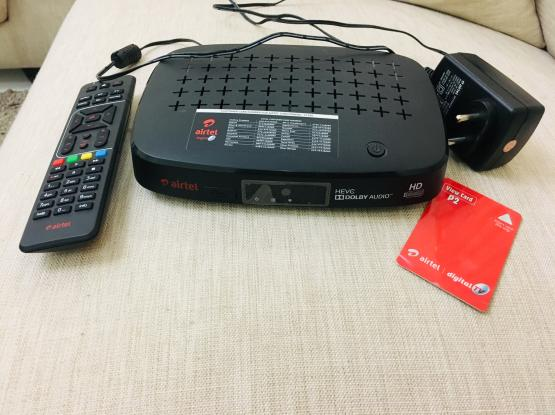 Airtel HD receiver + Unlimited recording + Subscription