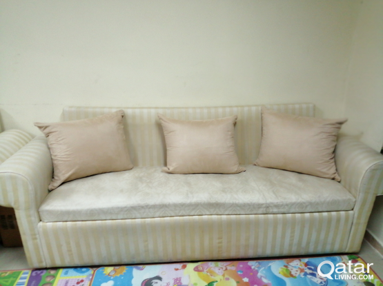 Moving sale- Sofa, Baby crib and mattress