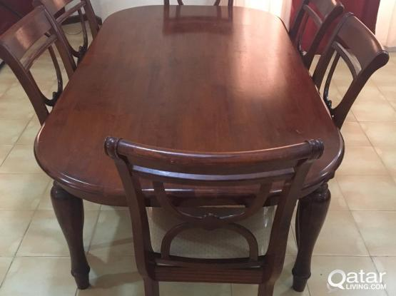 Dining table with 6 chairs (from Home center)