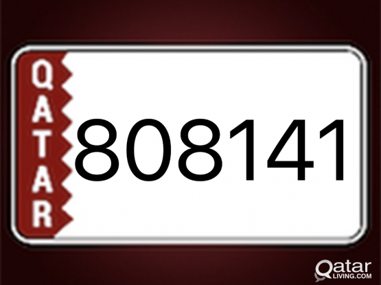Number plate 808141