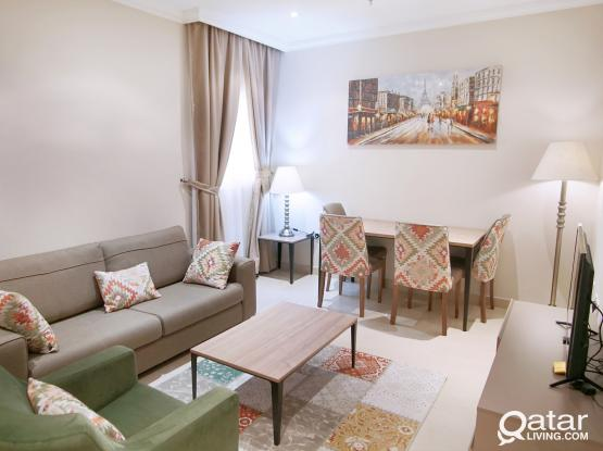 FF 1BHK ( W&E included + FREE Internet) in the Heart of DOHA!