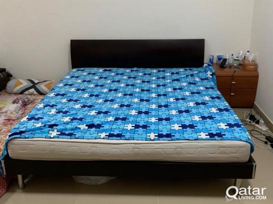 Queen Size Bed + Medical Mattress for urgent sale