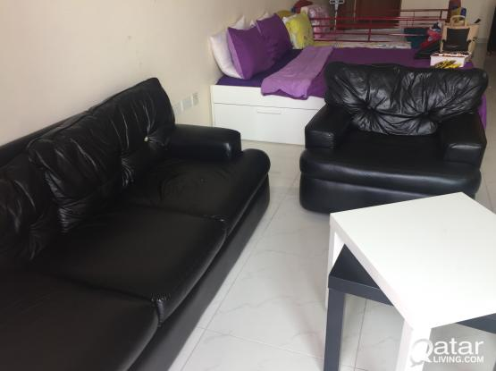 Quick sale for Leather sofa set 3+1+1