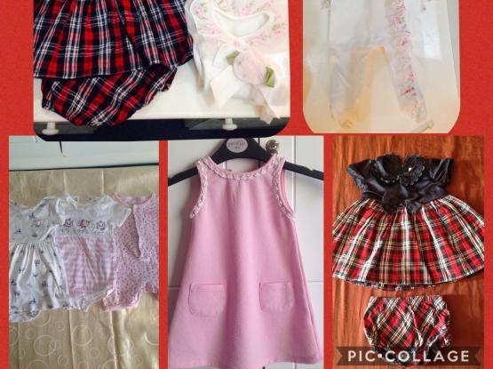 Thrifted clothes for baby girls 6-12 mo