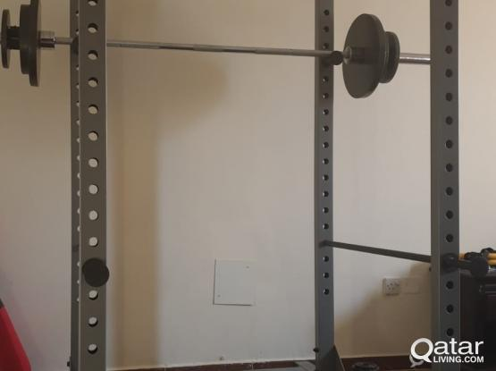 Power Cage with Thick Rubber Mats