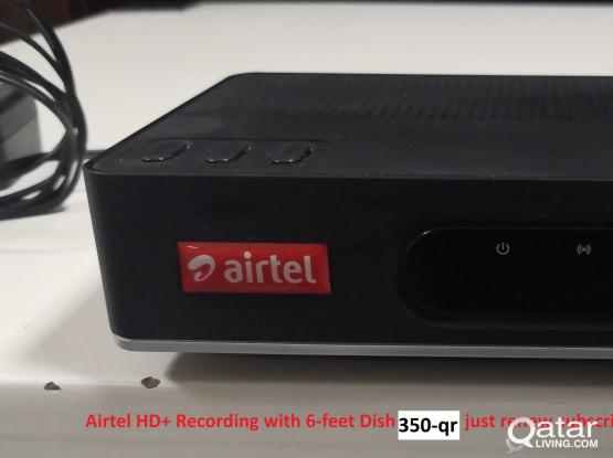 Airtel HD Plus with 6 feet Dish and Camera