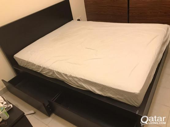 Ikea double bed with high quality mattress