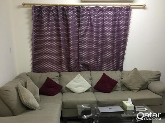 5 seater L-Shape sofa without table-Najma