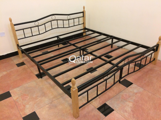 Iron bed, king size bed